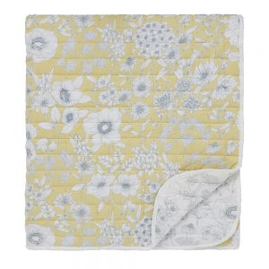 Sanderson Home Maelee Quilted Bedspread 265x260cm Sunshine