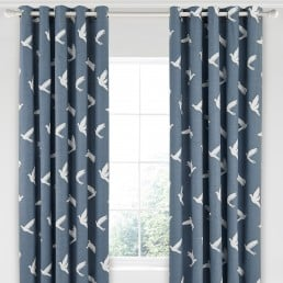 Sanderson Home Paper Doves Curtains 66″x90″ Denim