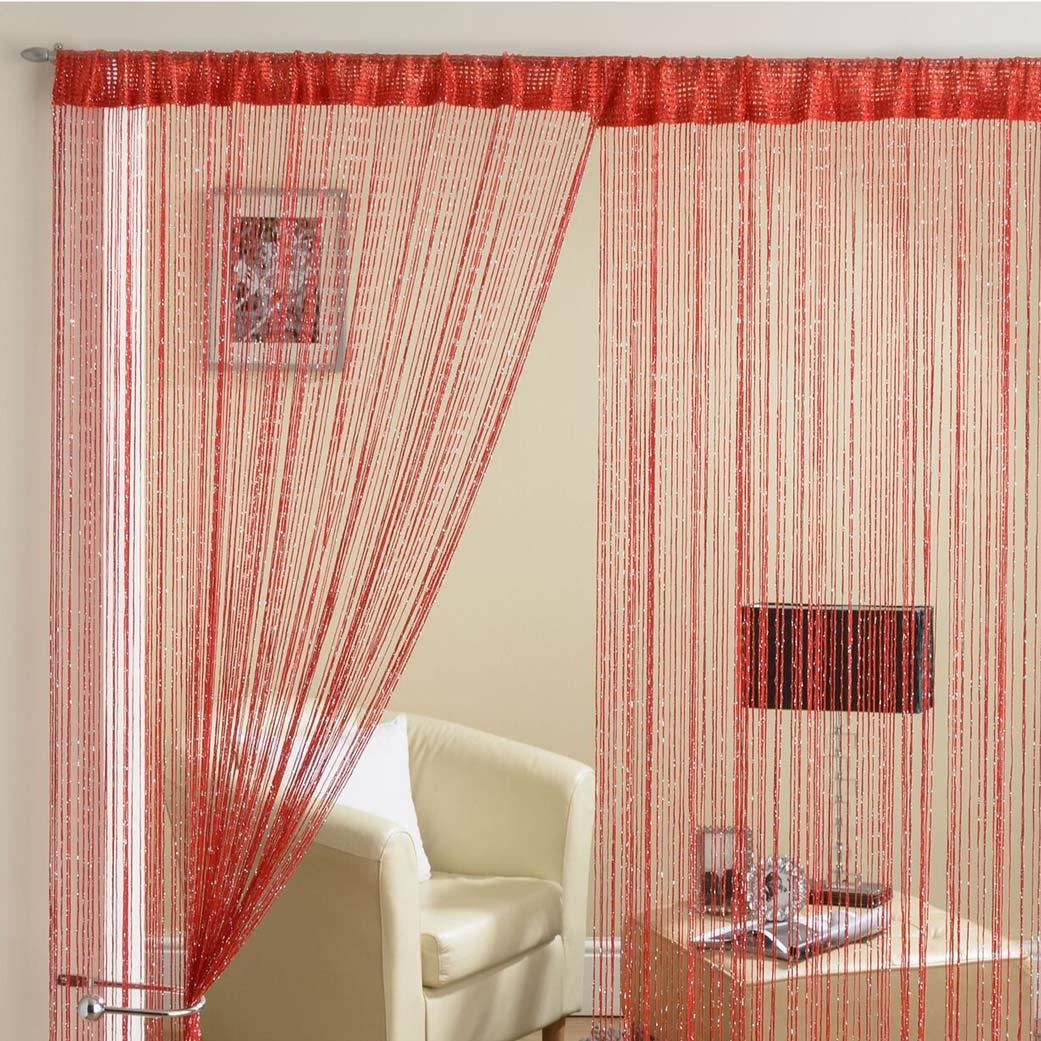 Glam Lurex String Panel Red 90x200cm