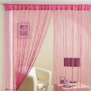 Glam Lurex String Panel Cerise 90x200cm