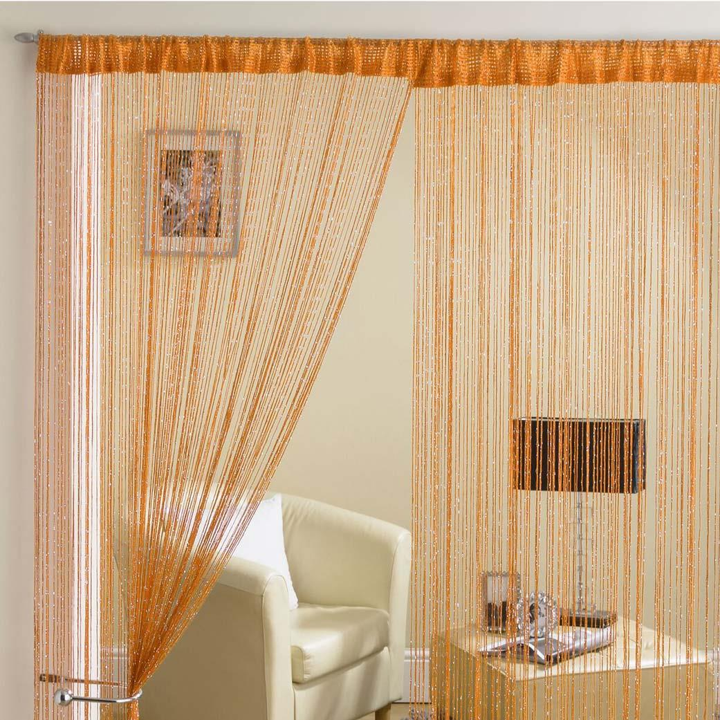 Glam Lurex String Panel Orange 90x200cm