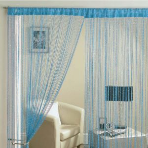 Glam Lurex String Panel Blue 90x200cm