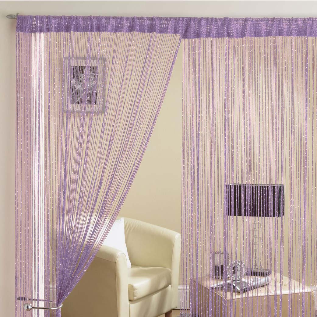 Glam Lurex String Panel Purple 90x200cm
