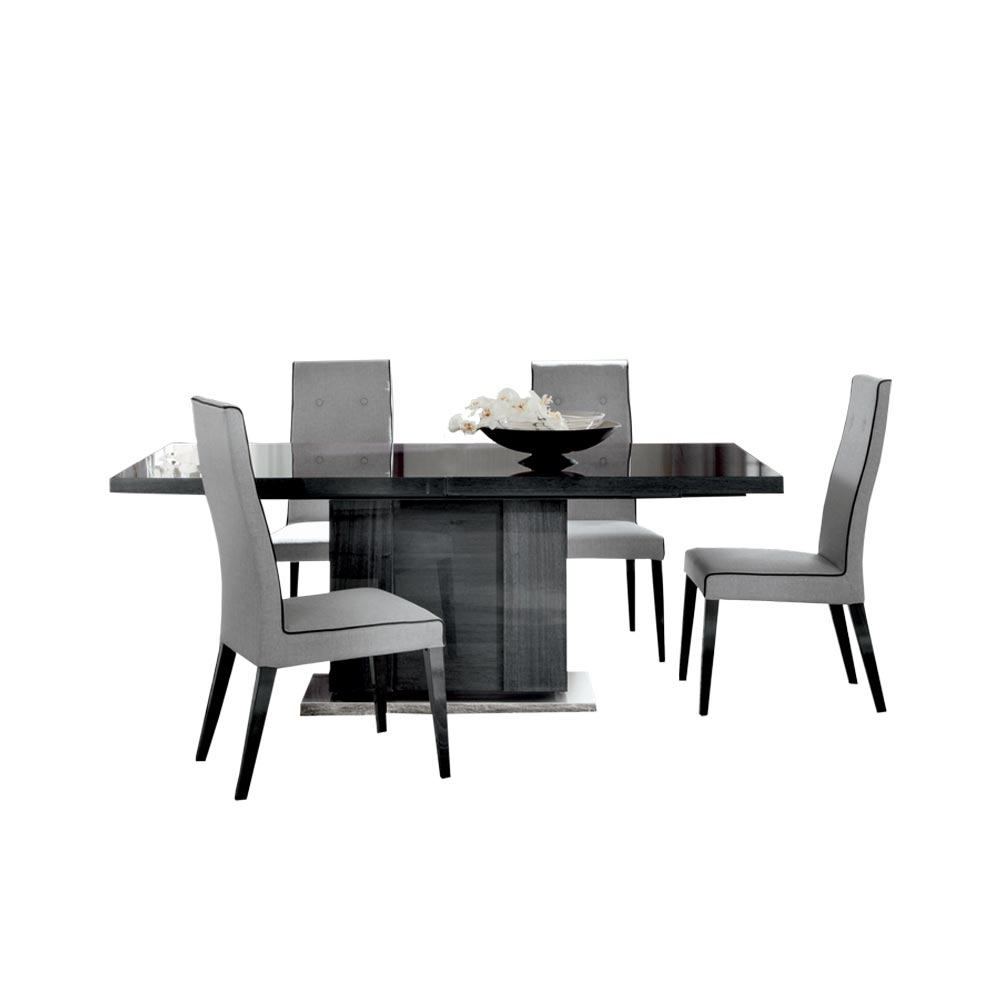 Montecarlo Extending Table & 4 Coppia Chairs