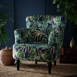 Clarke & Clarke Dalston Chair Monkey Business Indigo