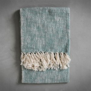 Surat Fringed Throw Teal