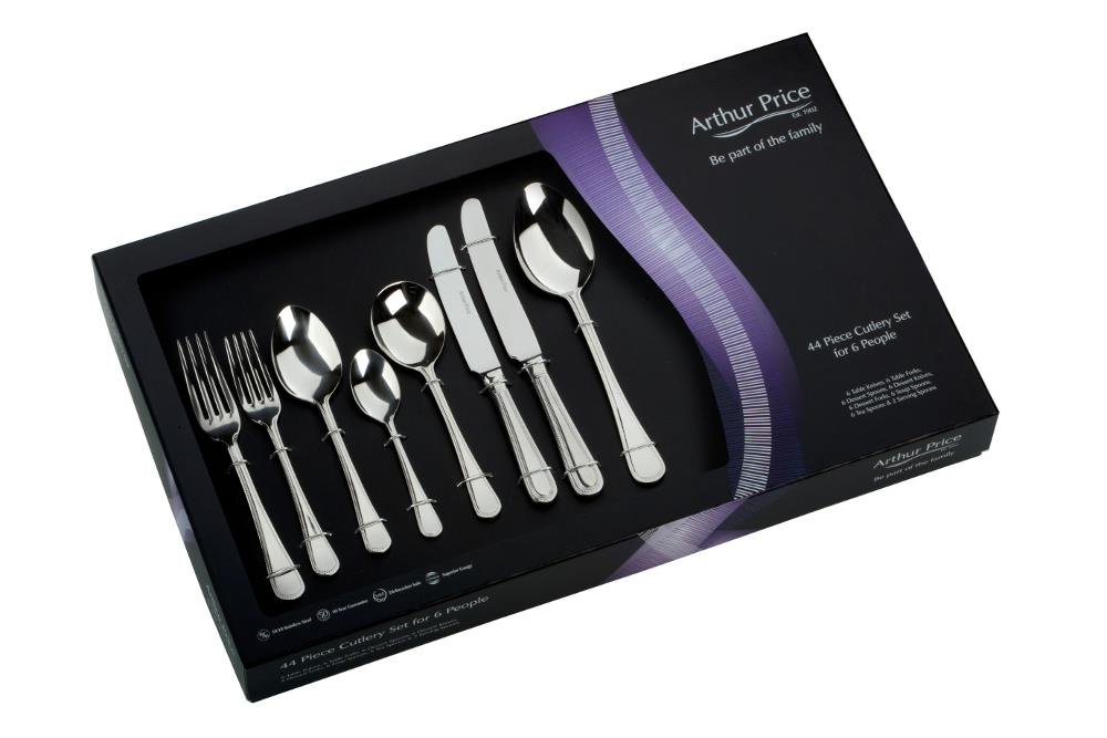 Arthur Price Bead 44 Piece Cutlery Bundle