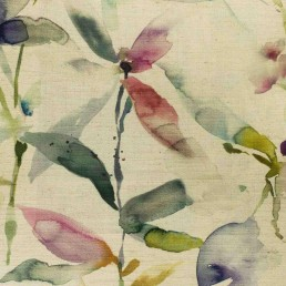 Voyage Fig Natural Fabric
