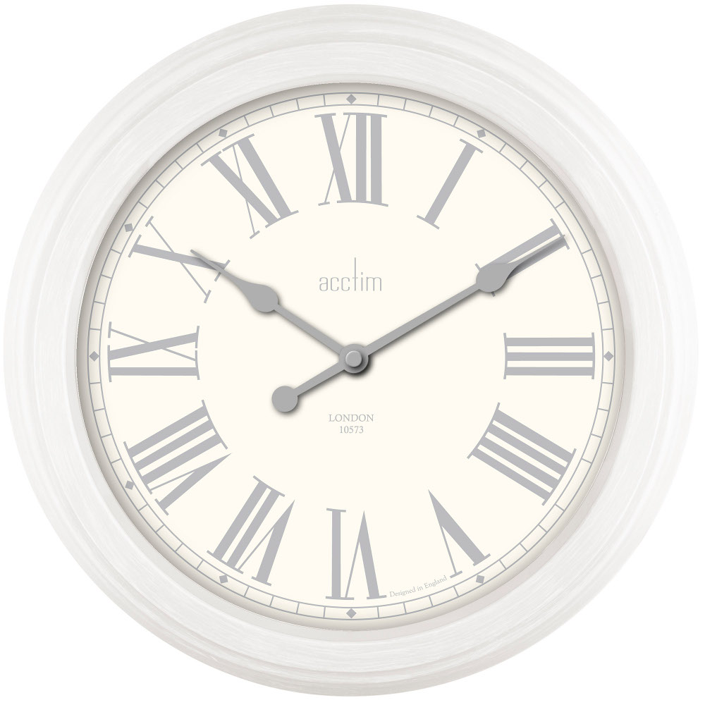 Chester 355mm Wall Clock In White