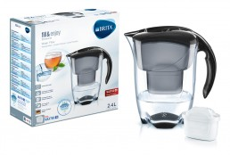 Brita – Elemaris Water 2.4L Filter Jug – Cool Black