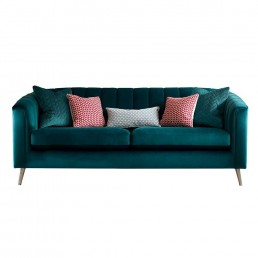 Portia Large Sofa in (V) grade fabric – with wooden legs