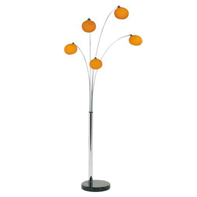 Danalight Lounge 5 Light Floor Lamp Orange