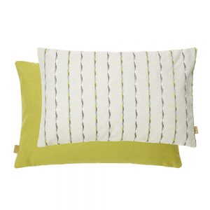 Stripe Feather Filled Cushion 30x50cm Lime