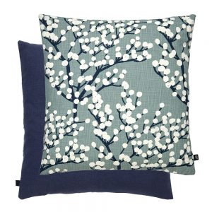 Blossom Feather Filled Cushion 50x50cm Navy