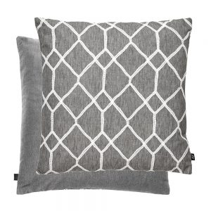Geo Feather Filled Cushion 43x43cm Grey