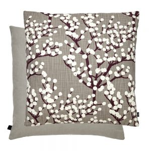 Blossom Feather Filled Cushion 50x50cm Fawn