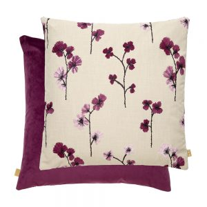 Flower Feather Filled Cushion 50x50cm Pink