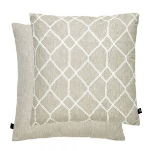Geo Feather Filled Cushion 43x43cm Natural