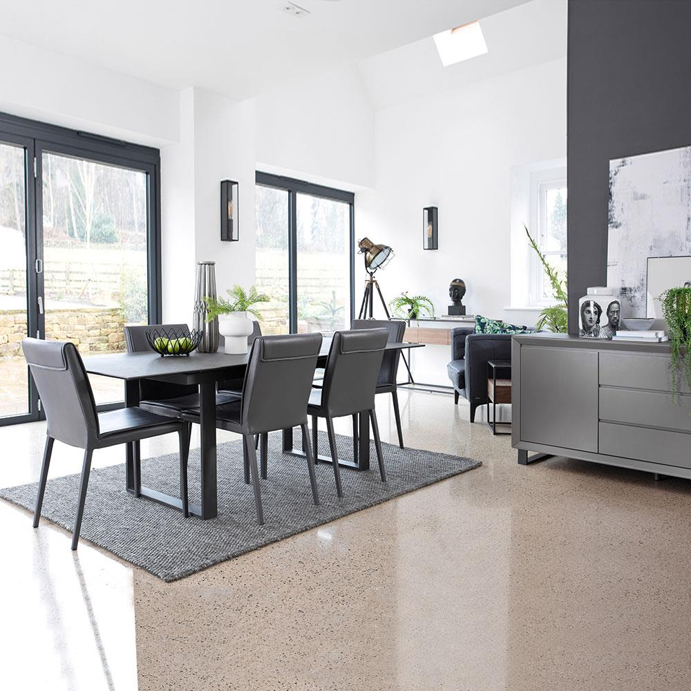Palermo Dining Set with 4 Chairs