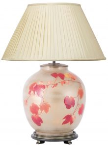 Jenny Worrall Collingridge Vine Table Lamp With 50cm Silk Shade In Almond