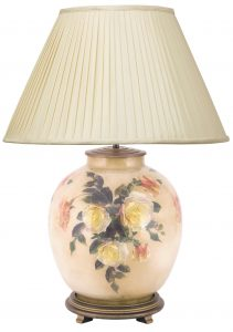Jenny Worrell Classic Rose Large Base With 50cm Silk Shade In Almond