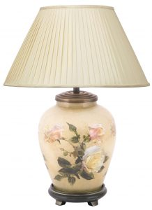 Jenny Worrell Classic Rose Small Base With 30cm Silk Shade In Almond
