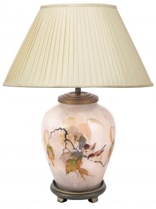 Jenny Worrell Chinese Small Base With 40cm Silk Shade In Almond