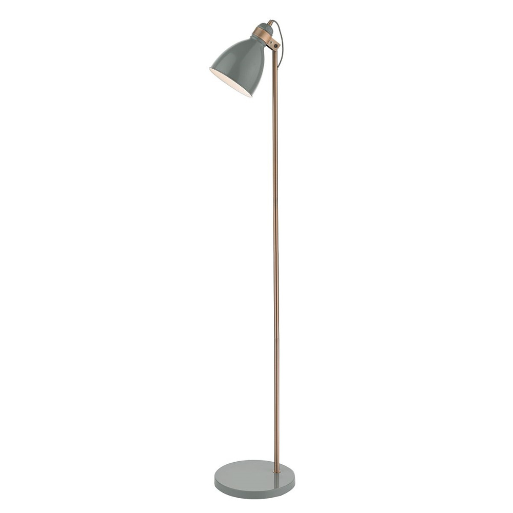 Frederick Floor Lamp In Grey And Copper
