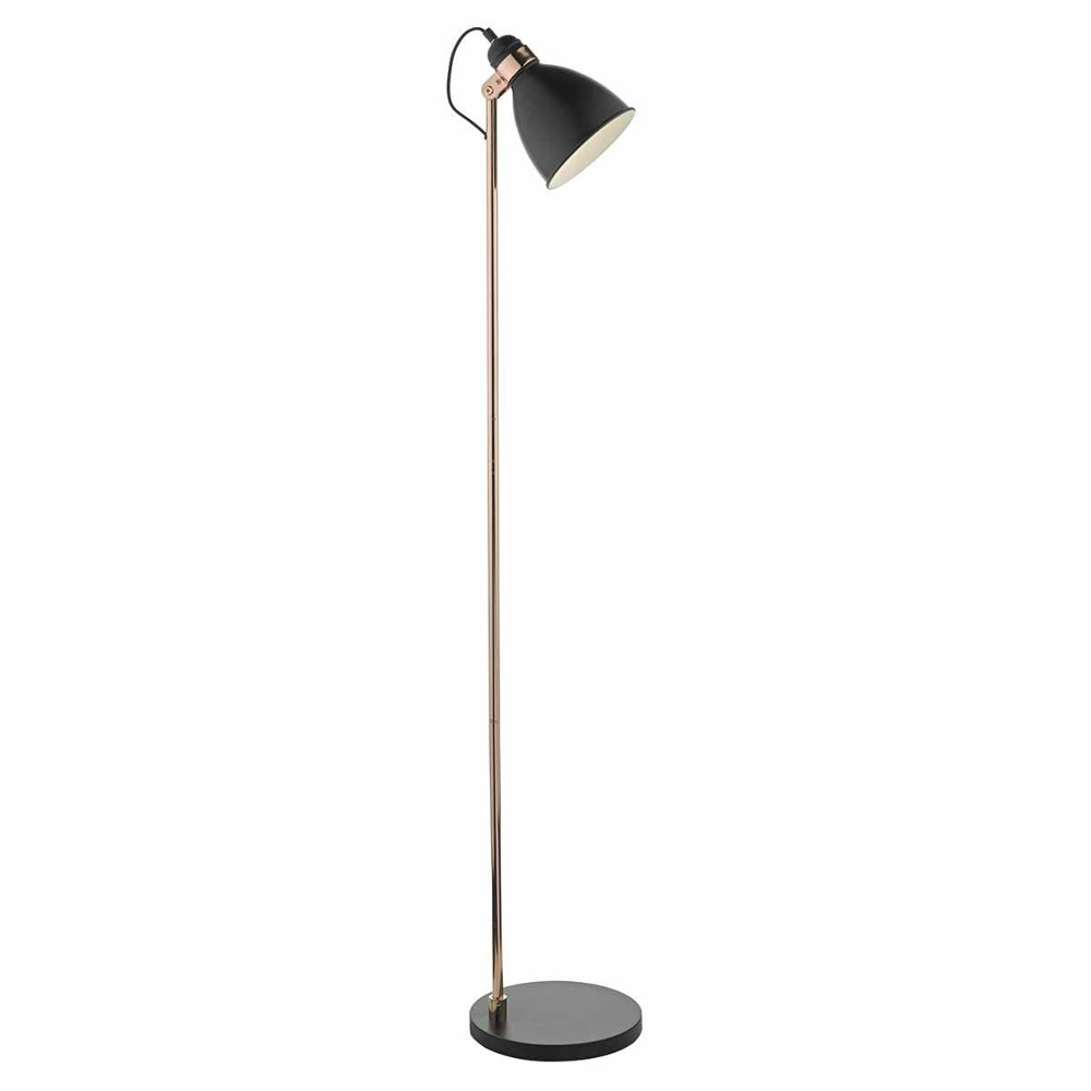 Frederick Floor Lamp In Black And Copper
