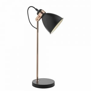 Frederick Table Lamp In Black and Copper