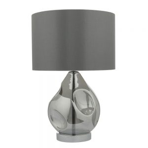 Quinn Table Lamp In Smoked Glass