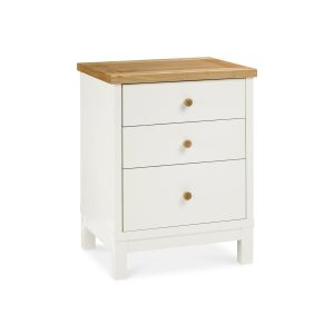 Georgia Two Tone Finish 3 Drawer Nightstand