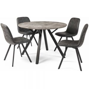 Titan Round Dining Table & 4 Chairs