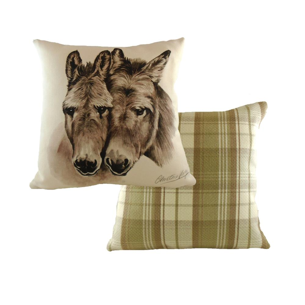 Boston Donkeys Cushion