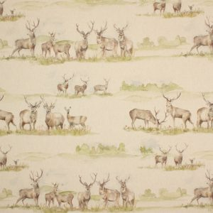 Voyage Moorland Stag Linen Fabric