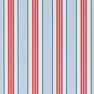 Clarke & Clarke Deck Chair Stripe Powder Blue PVC