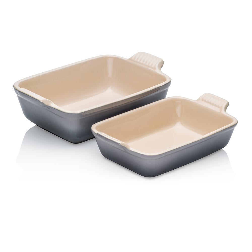 Le Creuset Rectangular Dish Twin Pack Flint