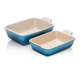 Le Creuset Rectangular Dish Twin Pack Marine