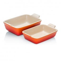 Le Creuset Rectangular Dish Twin Pack Volcanic