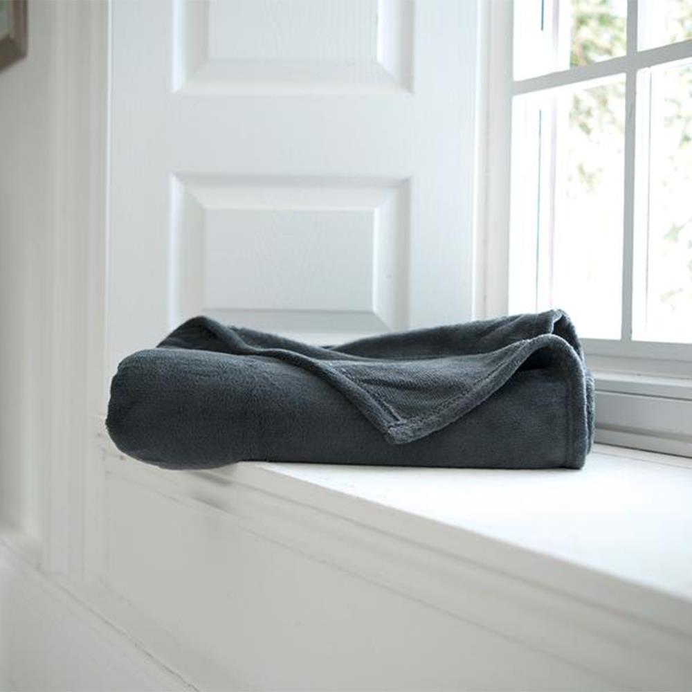 Snuggle Touch Throw Charcoal