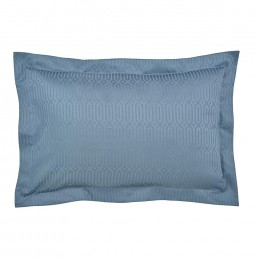 Peacock Blue Rivage Oxford Pillowcase Prussian Blue