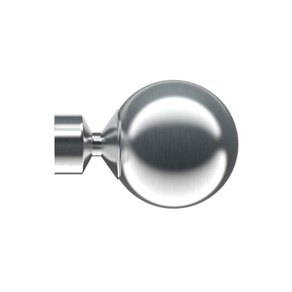 Bugle 28mm Satin Silver Finial