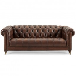 Buckingham 3.5 Seater Leather Chesterfield Sofa