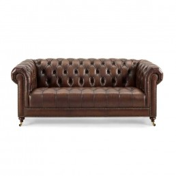 Buckingham 3 Seater Leather Chesterfield Sofa