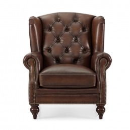 Buckingham Wing Chair Leather