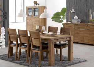 Imogen 190cm Dining Table & 4 Dining Chairs