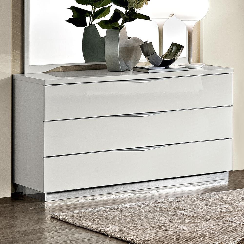 Havana 3 Drawer Chest White Gloss