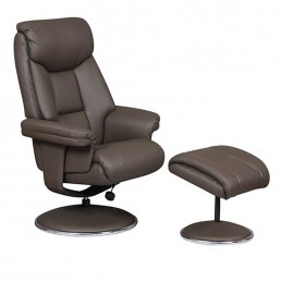 Bradfield Swivel Recliner Chair With FREE Footstool Charcoal