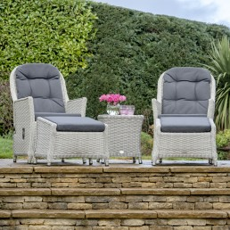 Monterey Recliner Set Including 2 Footstools & Side Table