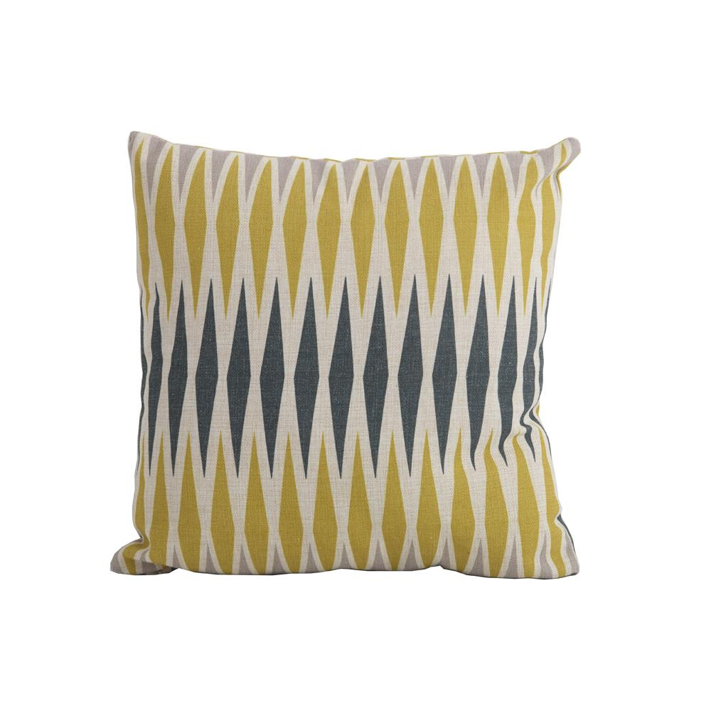Harlequin Yellow Square Scatter Cushion